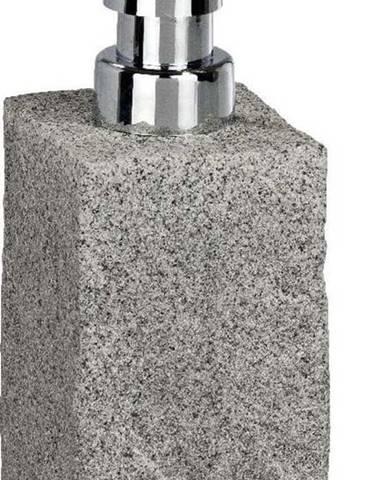 Šedý dávkovač mýdla Wenko Granite, 210 ml