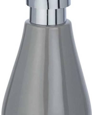 Šedý keramický dávkovač na mýdlo Wenko Sydnes