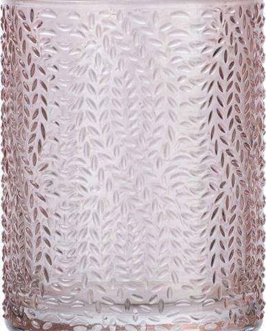 Světle růžový skleněný kelímek na kartáčky Wenko Vetro