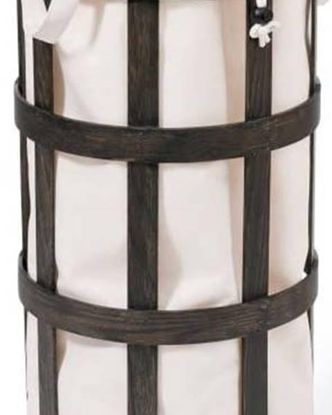 Wireworks Černý dřevěný koš na prádlo s bílým vakem Wireworks Cage