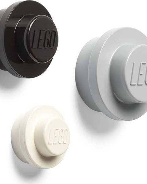 LEGO Sada 3 věšáků na zeď LEGO® Black And White