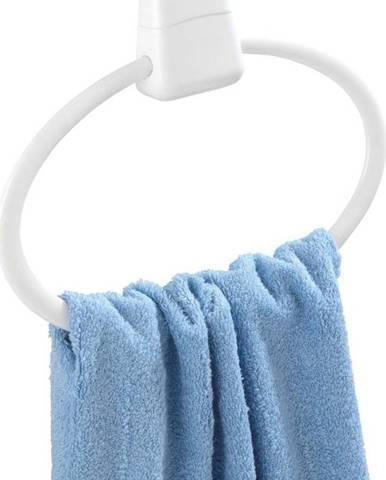 Bílý nástěnný kulatý držák na ručníky Wenko Pure