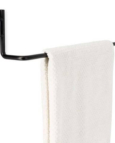 Černý samodržící nástěnný držák na ručníky Compactor Bestlock Black Tube Holder For Towels, 60,6 x 9 cm