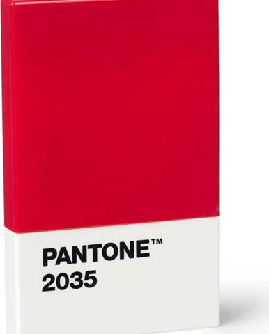 Červené pouzdro na vizitky Pantone