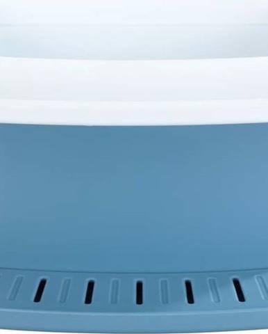Modrý stojánek namycí potřeby Wenko Cosmo