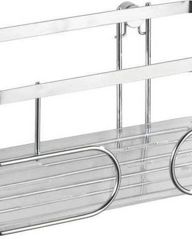 Nástěnná police z nerezové oceli Wenko Premium, výška10cm