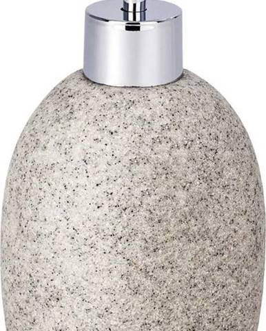 Světle šedý dávkovač na mýdlo Wenko Puro