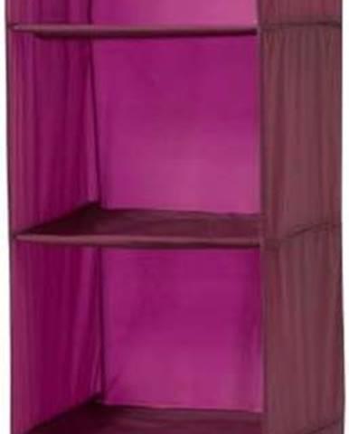 Závěsný organizér ve vínové barvě Compactor Pina, délka 128 cm