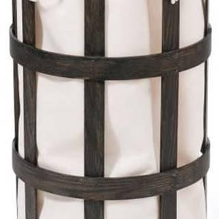 Černý dřevěný koš na prádlo s bílým vakem Wireworks Cage