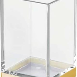 Plastový koupelnový kelímek s detailem ve zlaté barvě InterDesign