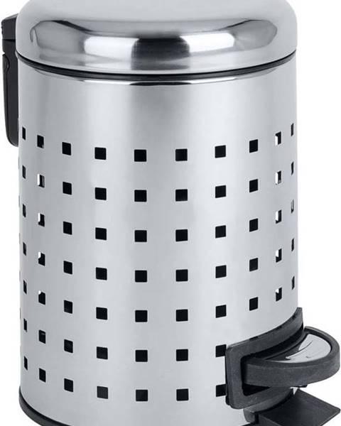WENKO Pedálový odpadkový koš ve stříbrné barvě Wenko Leman, 3 l