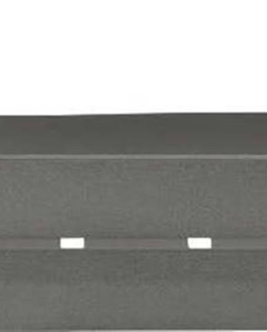 Antracitově šedá polička Wenko Montella,32,4x12,8cm