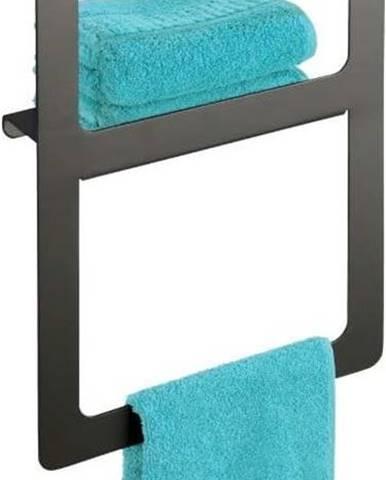 Antracitově šedý nástěnný věsák na ručníky Wenko Montella,27x44cm