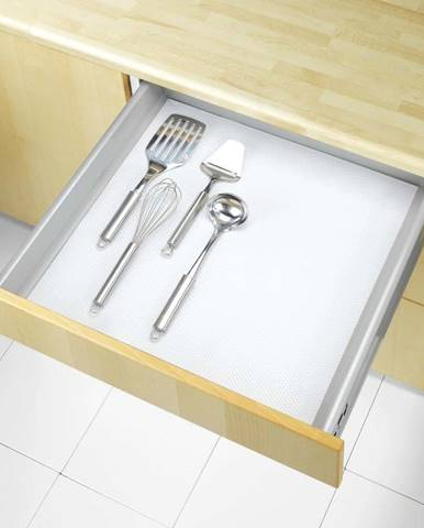 Bílá protiskluzová podložka do zásuvky Wenko Anti Slip, 150x50cm