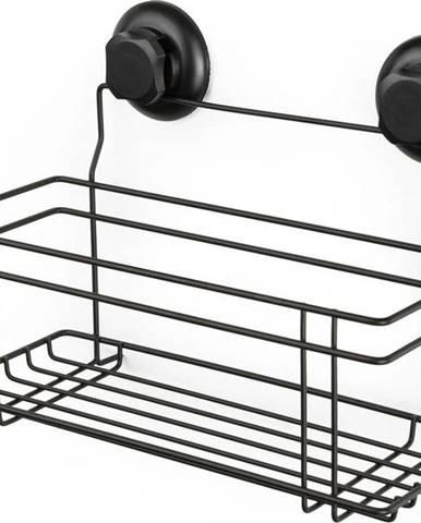 Černá samodržící nástěnná koupelnová polička Compactor Bestlock Black All Purpose Holder, 30 x 20,5 cm