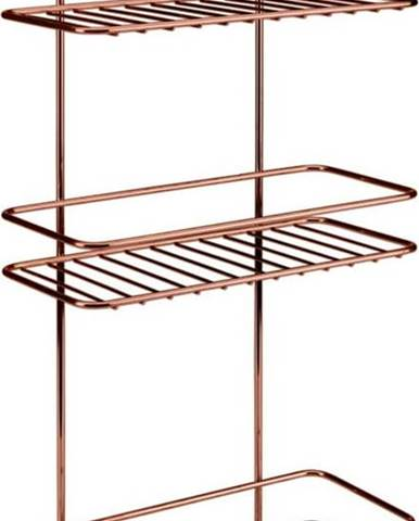 Koupelnová polička s třema patry Metaltex Copper