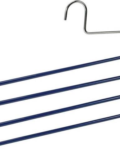 Modré protiskluzové ramínko na kalhoty s 4 držáky Wenko Hanger Baggy