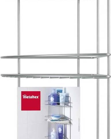 Nástěnná rohová koupelnová polička se třema patry Metaltex Ref