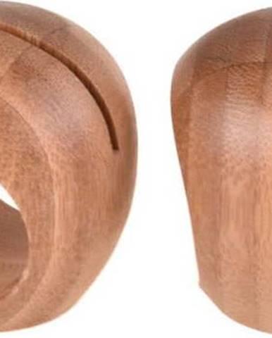 Sada 2 bambusových kroužků na ubrousek Bambum Dixon