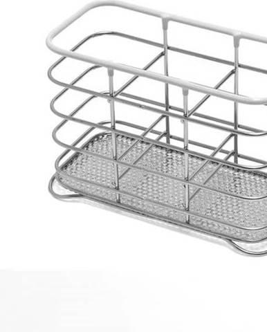Stojan na příbory z nerezové oceli s bílým lemem Addis Wire