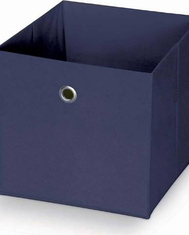 Tmavě modrý úložný box Domopak Stone,32x32cm