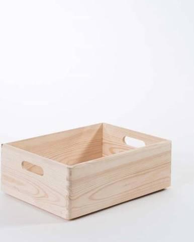 Úložný box z borovicového dřeva Compactor Custom, 40 x 30 x 14 cm
