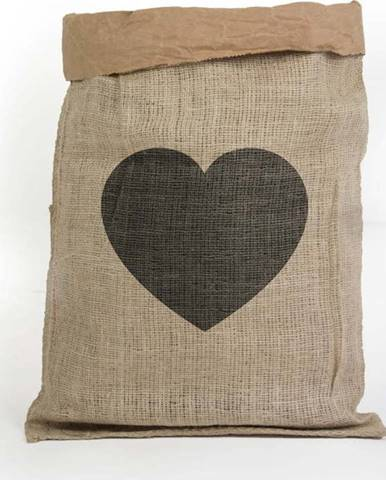 Úložný koš z recyklovaného papíru Surdic Yute Heart