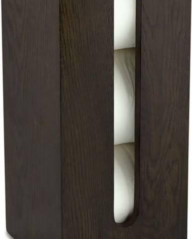 Zásobník na toaletní papír z dubového dřeva Wireworks Mezza Dark