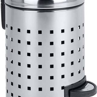 Pedálový odpadkový koš ve stříbrné barvě Wenko Leman, 3 l