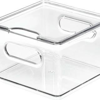 Transparentní úložný box s víkem iDesignTheHomeEdit, 15,2x15,2cm