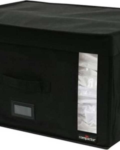 Compactor Černý úložný box s vakuovým obalem Compactor Infinity, objem 150 l