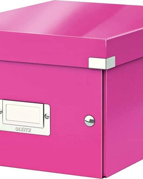 Leitz Růžová úložná krabice Leitz Universal, délka 28 cm