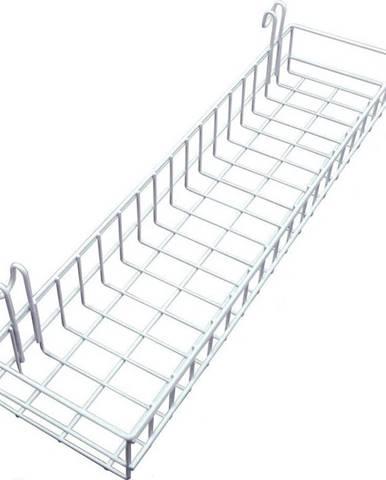 Bílý přídavný košík k nástěnce Reminder, délka 40 cm