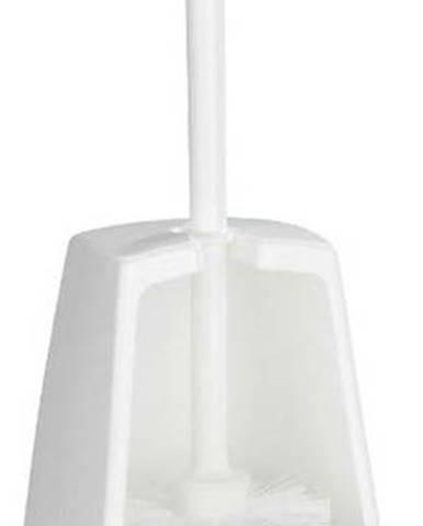 Bílý toaletní kartáč Wenko Simple