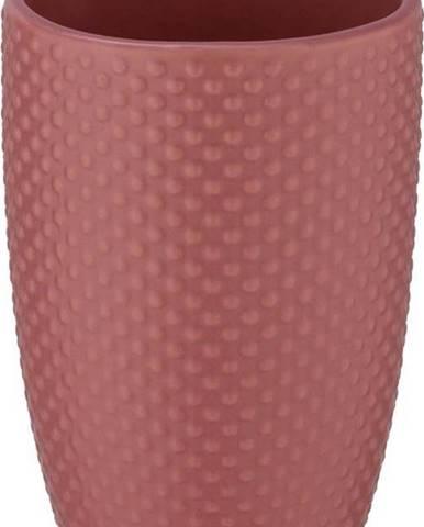 Cihlově červený keramický kelímek na kartáčky Wenko Punto