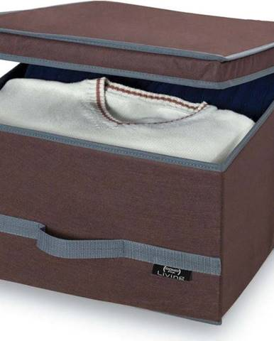 Hnědý úložný box Domopak Living, 24x50cm