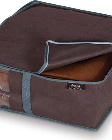 Hnědý úložný box na prádlo Domopak Living, 15x45cm