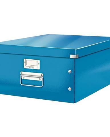 Modrá úložná krabice Leitz Universal, délka 48 cm