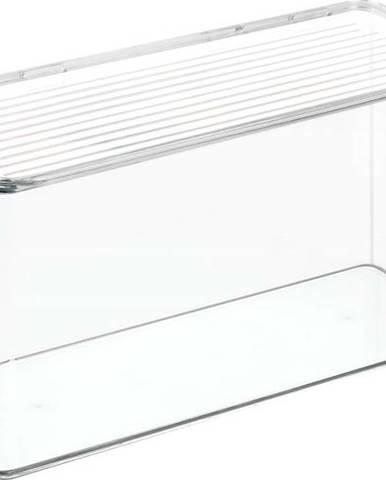 Průhledný úložný box s víkem iDesign, 14,5x34cm