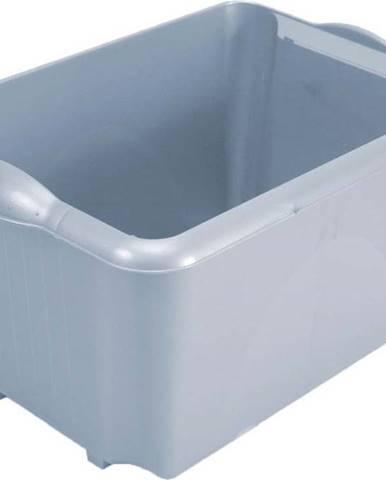 Šedý úložný box z recyklovaného plastu Addis Eco Range, 30 l