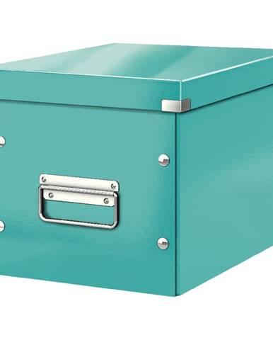 Tyrkysově modrá úložná krabice Leitz Office, délka 26 cm