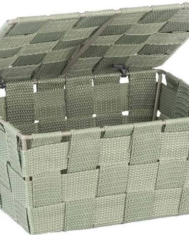 Zelený úložný košík s víkem Wenko,14x19 cm