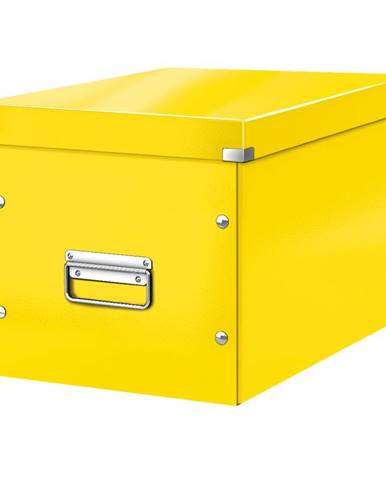 Žlutá úložná krabice Leitz Office, délka 36 cm