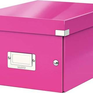 Růžová úložná krabice Leitz Universal, délka 28 cm