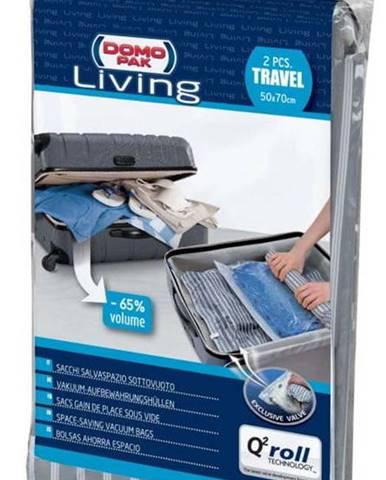 Sada 2 cestovních vakuových pytlů Domopak Travel