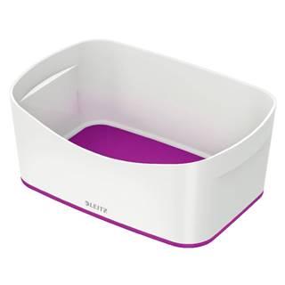 Bílo-fialový stolní box Leitz MyBox, délka 24,5 cm