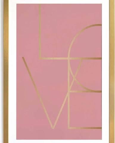 Obraz v rámu Velvet Atelier Golden Love, 40 x 60 cm