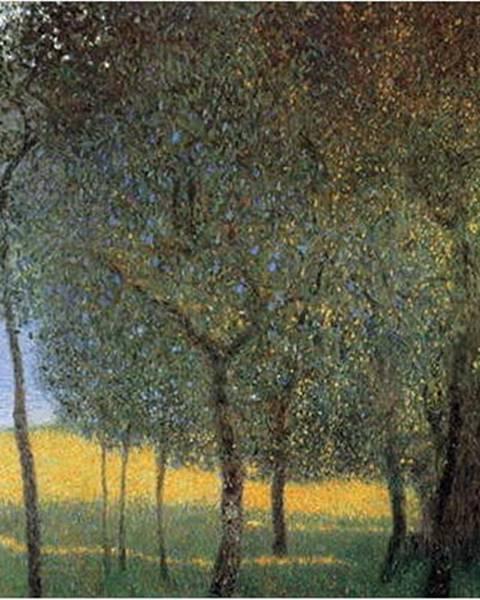 Fedkolor Reprodukce obrazu Gustav Klimt - Fruit Trees, 45x45cm