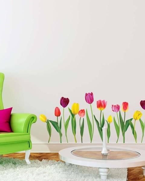Ambiance Sada samolepek na zeď Ambiance Colorful Tulips