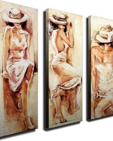 3dílný nástěnný obraz na plátně Romantic Mood